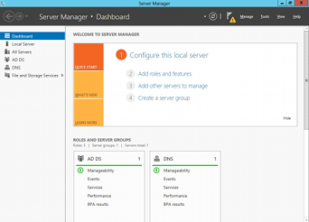 Windows Server 2012 ServerManager
